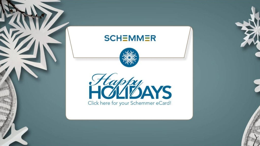 Happy Holidays from Schemmer 2017