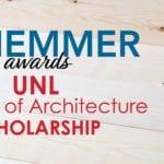 Schemmer awards UNL College of Architecture Scholarship