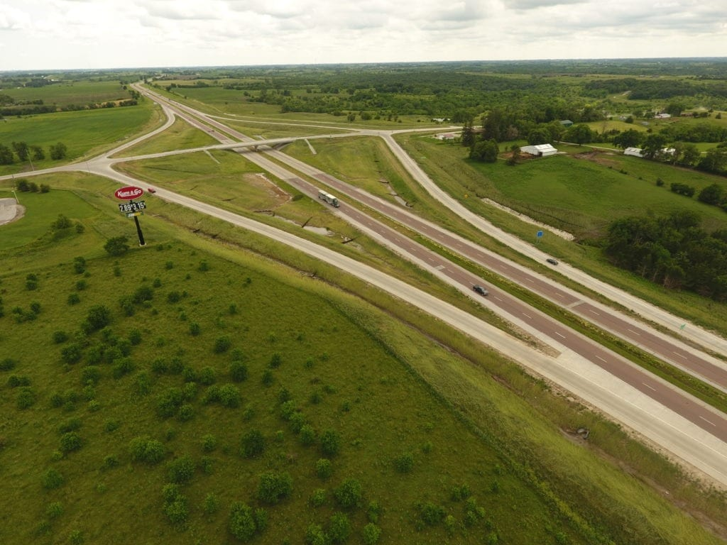 Iowa DOT County Road G76 over Interstate 35
