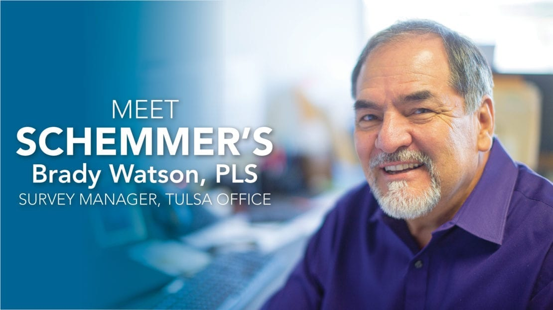 Meet Brady Watson, PLS, Land Survey Manager for Schemmer's Tulsa Office