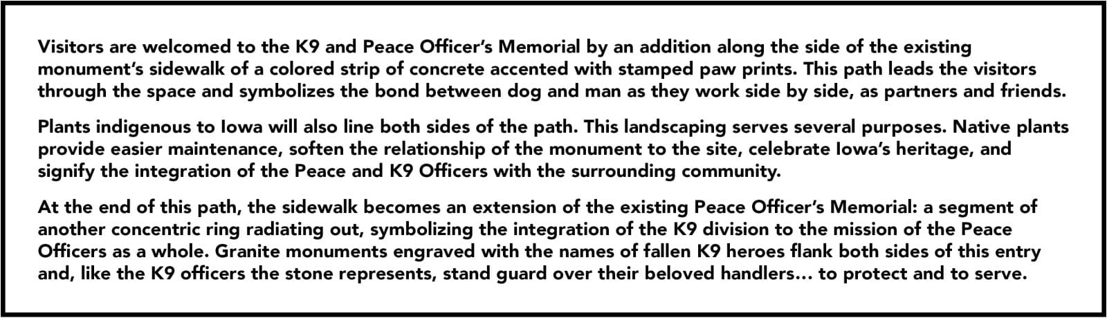 State of Iowa Peace Officers K9 Memorial