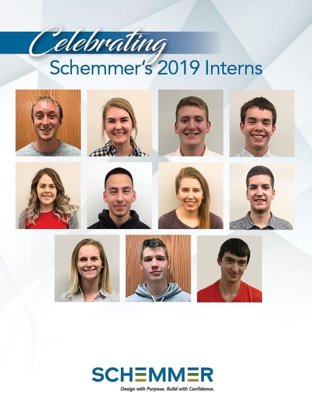 Celebrating Schemmer's 2019 Interns