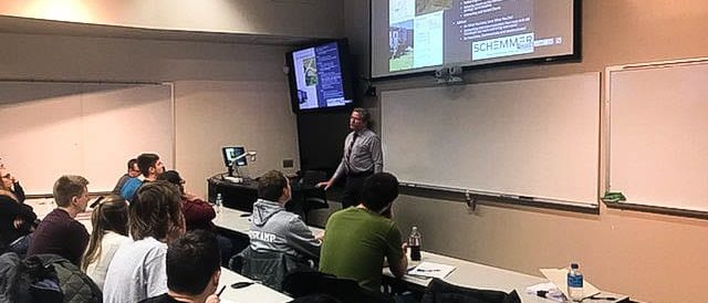 Schemmer_Klostermann Presents to UNO Students