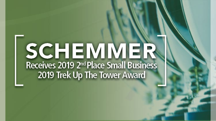 Schemmer Receives Second Place Small Business 2019 Trek Up The Tower Award