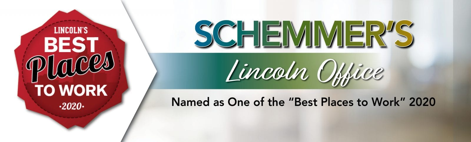Best Places to Work Lincoln 2020 Schemmer