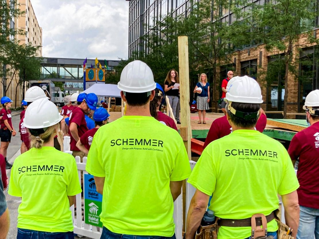 Schemmer Participates in Greater Des Moines Habitat for Humanity Home Build